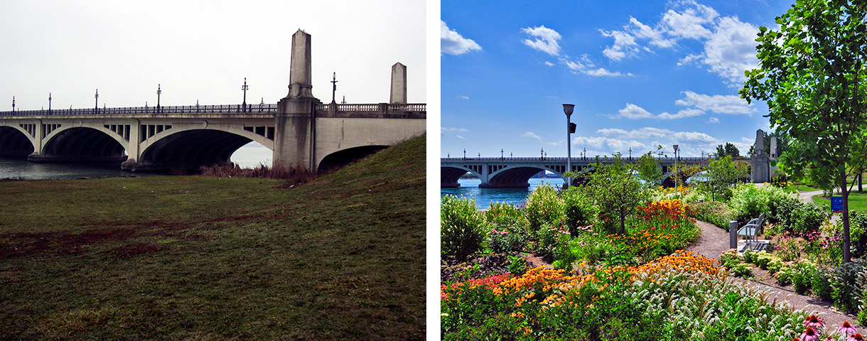 Gabriel Richard Park Before & After